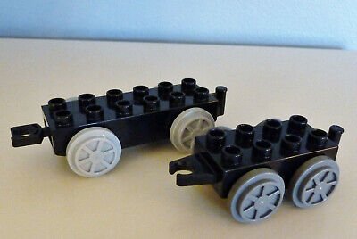 2 LEGO DUPLO TRAIN CAR BASES