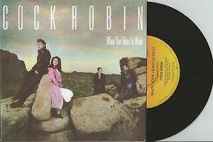 COCK-ROBIN-WHEN-YOUR-HEART-IS-WEAK-7-45-VINYL-RECORD-w-PICT-SLV-1985