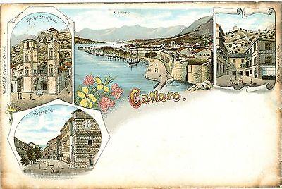 Cattaro / Kotor, Farb-Litho, um 1900/10