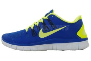 Nike Free 5.0 Plus Mens Run Lightweight Running Shoes Volt Blue Black Select 1