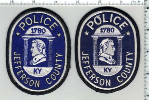 Jefferson County Police (Kentucky) Left/Right Facing Shoulder Patch Set