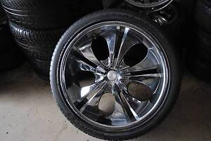"4 SET 22"" ALLOY WHEELS WITH TYRES 6 STUDS Virginia Brisbane North East Preview"