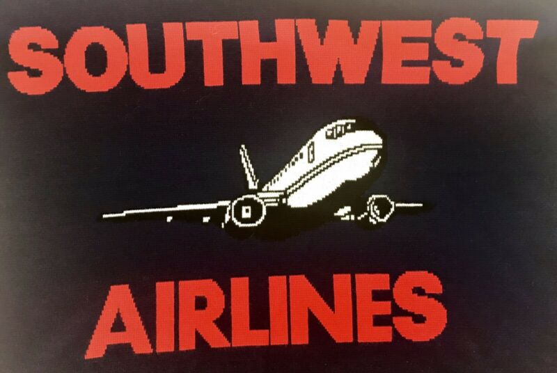 Southwest Airlines Blue Red Airplane Blanket Throw