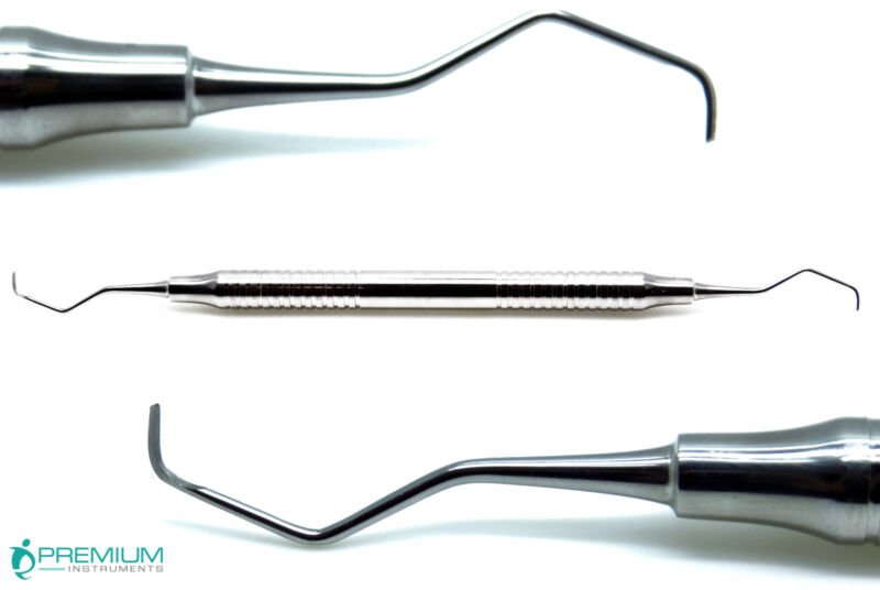 Gracey Curettes 7/8 Dental Periodontal Hollow Handle Double Ended Instruments