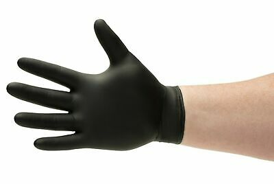 Black Nitrile Gloves 6 Mil Powder-Free Medical Exam Size: X-Large 90 Pieces