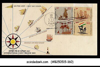 INDIA - 2001 INTERNATIONAL FLEET REVIEW 2001 / SAIL BOATS FDC