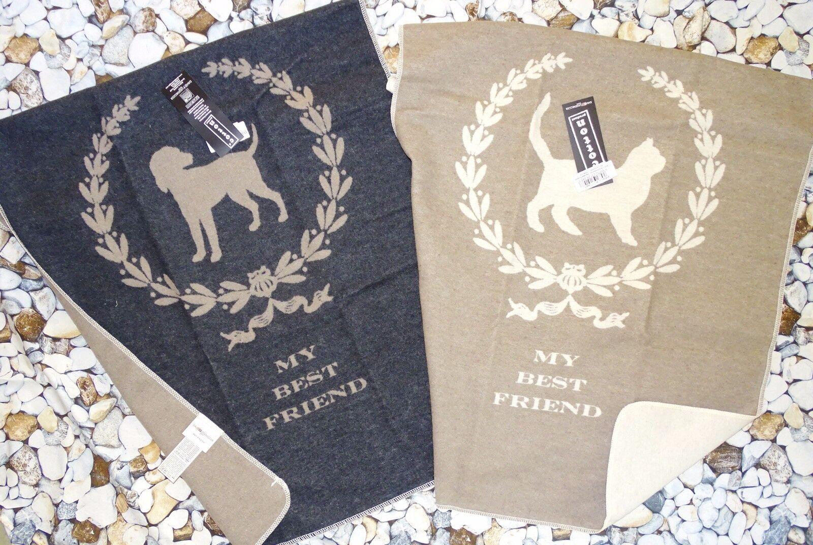 Fussenegger Haustierdecke*My Best Friend*Hund oder Katze*70x90cm*Kuschel-Decke