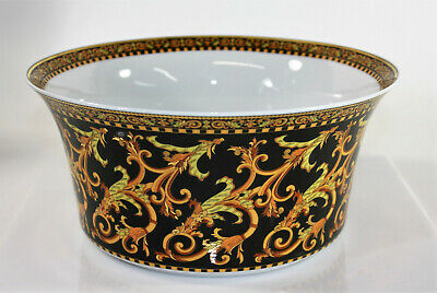 Versace Barocco by Rosenthal Paul Wunderlich Ikarus Round Vegetable Bowl + Box