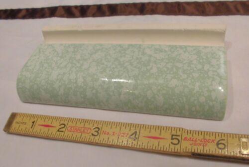 "1 pc. 2"" X 6"" Vintage *Molted Spring Green* Ceramic Radius Bullnose Tile  NOS"