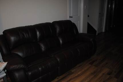 Leather Lounge Suite 3 seater and 2 single all recliners Brassall Ipswich City Preview