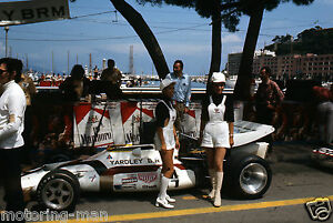 JO SIFFERT 'S YARDLEY BRM MONACO GRAND PRIX 1971 GP F1 PHOTOGRAPH FOTO PIT GIRLS