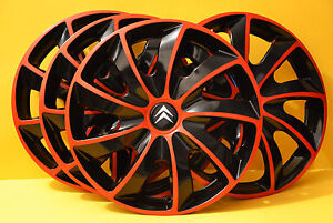 14 citroen c1 c2 c3 c4 berlingo saxo wheel trims covers hub caps quantity 4 ebay. Black Bedroom Furniture Sets. Home Design Ideas