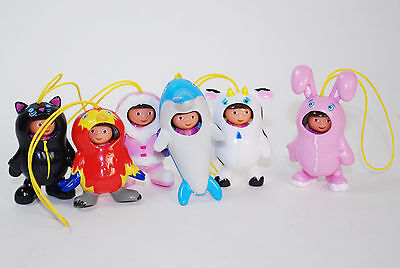 Dora the Explorer Costume Changer Figure Charms Danglers Complete set of 6 VHTF