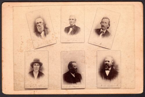 ATTENTION SERIOUS COLLECTORS: c.1895 PHOTO OF FAMOUS CHEROKEE INDIAN CHIEFS