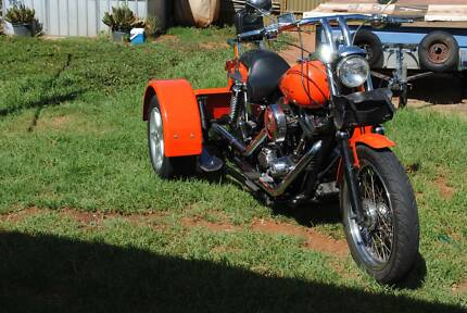 1988 Harley Davidson fitted with Wedgetail Towing Kit.