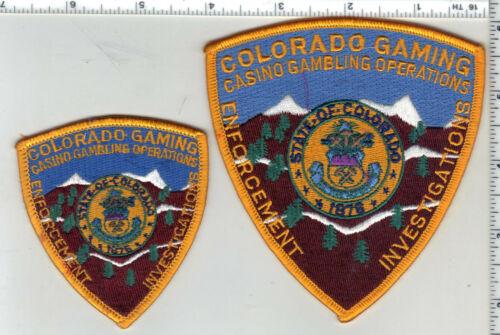 Colorado Gaming Enforcement Investigations Shoulder Patch & Cap/Hat Patch Set