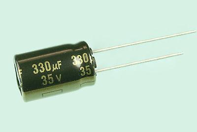 10pcs Panasonic Fm 330uf 35v 105c Radial Electrolytic Capacitor