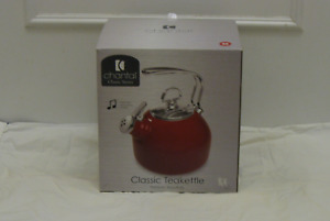 Chantal Whistling Classic Stovetop  Kettle -Red-NEW