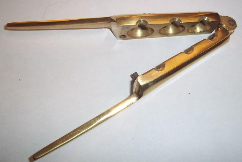 Gang Mould 3 Gang Bullet Mould Brass Gang Bullet Mould