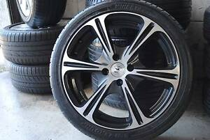 "4 SET SPORT 17"" ALLOY WITH TYRES + 4X100 STUDS + GOOD CONDITION Virginia Brisbane North East Preview"