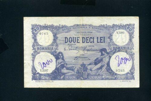 Romania 20 lei 1924 - VF