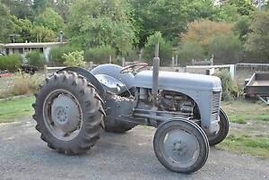 Little grey Fergie tractor and farming implements Woodend Macedon Ranges Preview