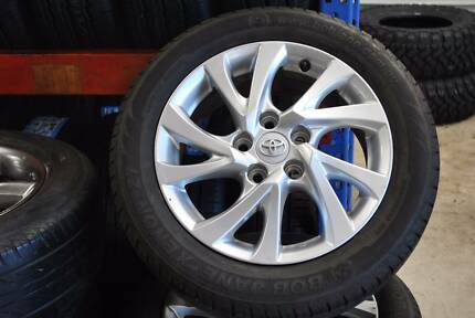 """SET 16"""" GENUINE TOYOTA COROLLA ALLOY WITH TYRES + GOOD CONDITION"""