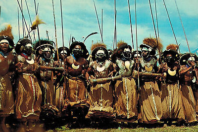 """Papua New Guinea,Wabag Warriors,""""Sing-Sing"""",So.Pacific Ethnic,c.1970s"""