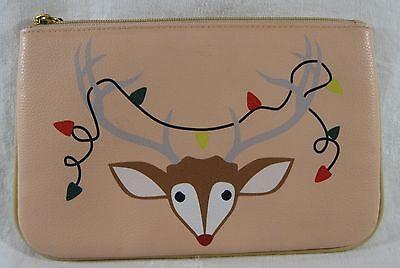 Buxton Christmas Reindeer Make Up Case Zippered Clutch