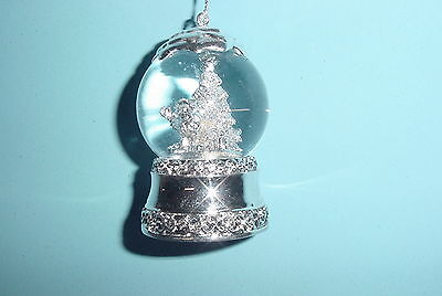 M&M Red Character Silver Electroplated 45mm Water Globe Ornament