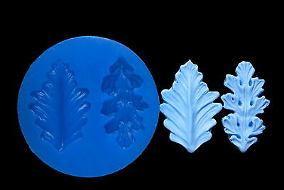 Sugarcraft Silicone Molds Sugarpaste Fondant Flower Mould Chocolate Clay Leaves