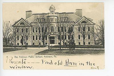 Ardmore Pa Public School  Puzzle  Main Line Bryn Mawr Philadelphia Udb 1906