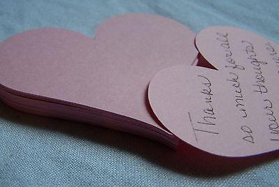 Die Cut Heart Shape - Heart shape pink die cut notecard scrapbooking supplies wedding wishing tree 28