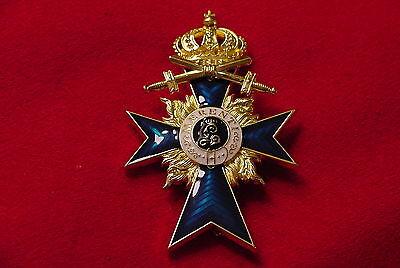 GERMAN EMPIRE / BAVARIA MEDAL - MILITARY MERIT ORDER OFFICER'S CROSS WITH SWORDS
