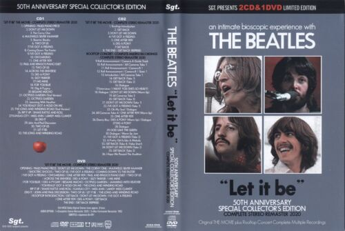 """The Beatles """"LET IT BE"""" THE MOVIE 50th Anniversary  SGT EDITION  2CD + DVD"""