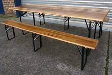 NEW INDUSTRIAL WOODEN BEER BENCH DINING PICNIC TABLE FOLDABLE SET Chipping Norton Liverpool Area Preview
