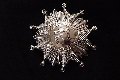 FRENCH LEGION OF HONOR NATIONAL ORDER GRAND OFFICER'S STAR 900 SILVER PLATED