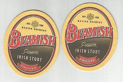Lot Of 5 Beamish Genuine Irish Stout Coasters By Beamish Of Ireland -Est in 1792 ()