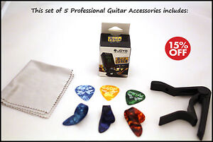 NEW SET  OF 5 Professional Guitar Accessories Set perfect for begginers