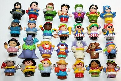 Fisher Price Little People 28 Pc Figure Lot Superheroes Pirates Circus Careers+