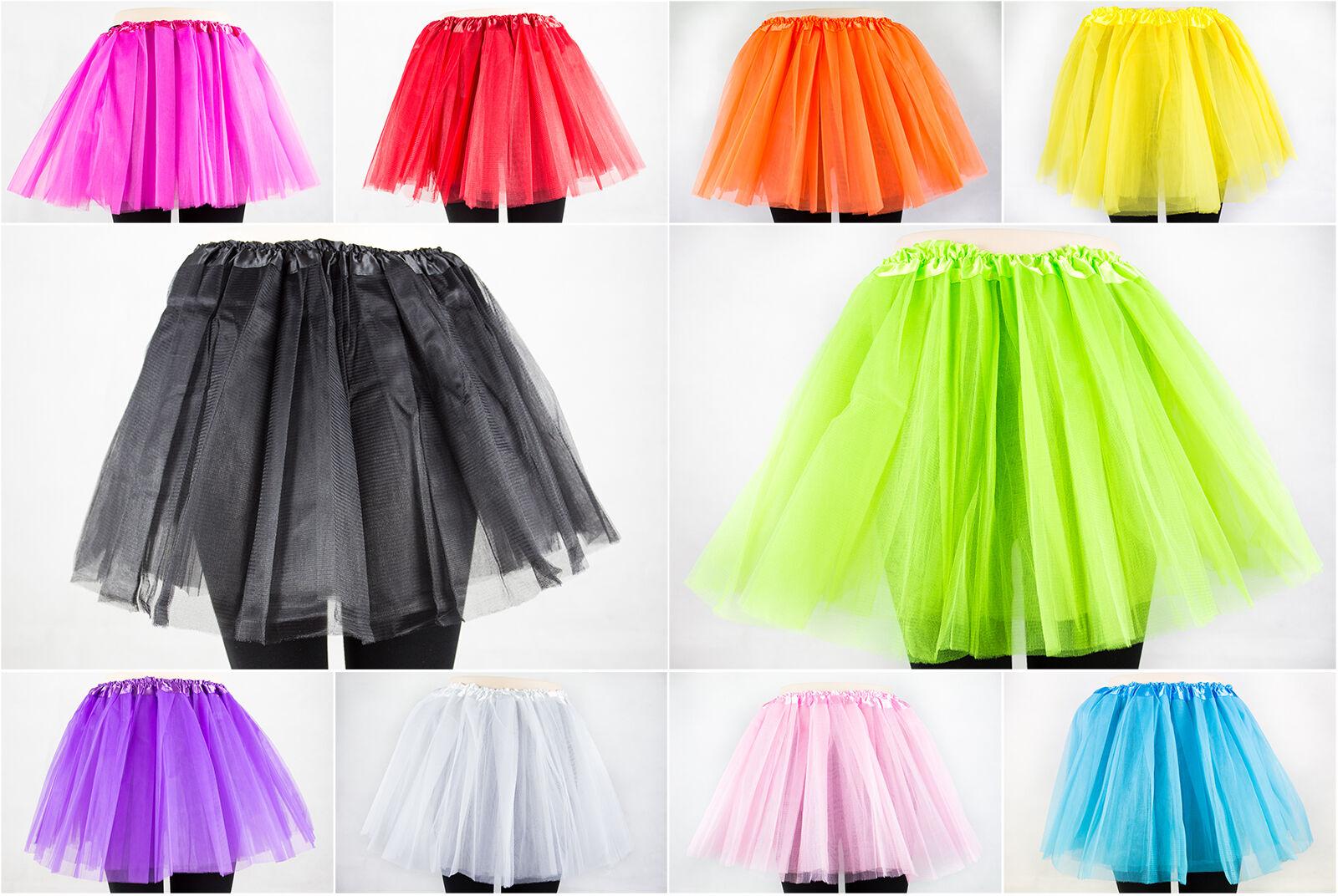 Damen Tütü Tutu Minirock Petticoat Tanzkleid Ballettrock Unterrock M-XL