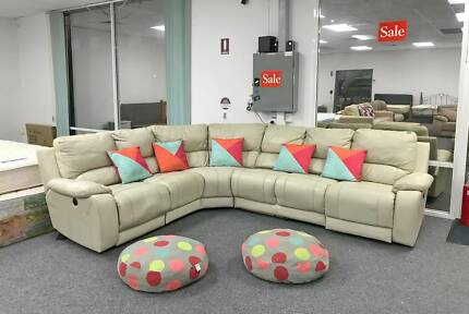 DELIVERY TODAY COMFORTABLE GENUINE LEATHER L shape corner sofa