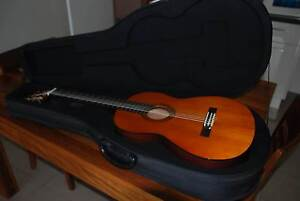 Yamaha CG-100A Classical Guitar, case, tuner and capo. Bacchus Marsh Moorabool Area Preview