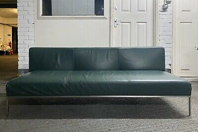 Vintage Mid Century Style 3 Seater Lounge Sofa. Green. Not Knoll Or Eames
