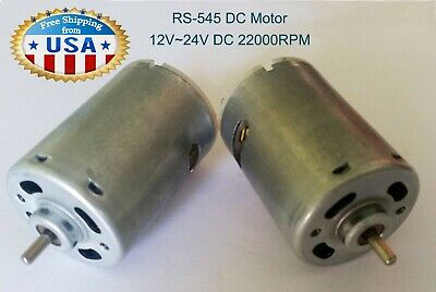 1x Rs-545 Dc Motor 624v 22000 Rpm H. Speed H.torque Diy Tools Models..new.
