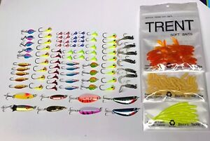 100+ new ice fishing jigs baits lures spoons soft baits