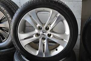 "4 SET 18"" GENUINE HONDA ACCORD ALLOY WITH TYRES + MINT CONDITION Virginia Brisbane North East Preview"