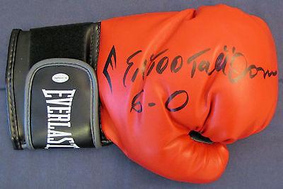 "Ed ""Too Tall"" Jones Signed Boxing Glove - Dallas Cowboys Legend"