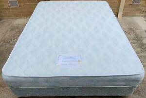 Excellent queen mattress plus queen bed base.Pick up or deliver availa