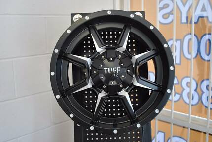 4 SET BRAND NEW TUFF ALLOY WHEELS 17X9 IN BOX + MINT CONDITION
